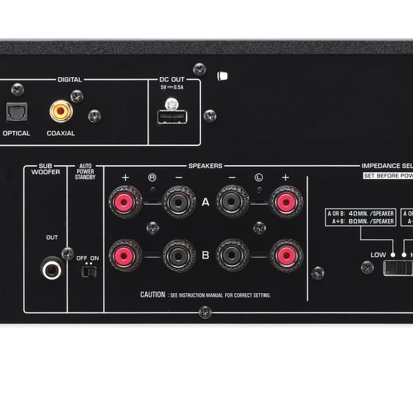 yamaha a s501 stereo amplifier with bonus headphones. Black Bedroom Furniture Sets. Home Design Ideas