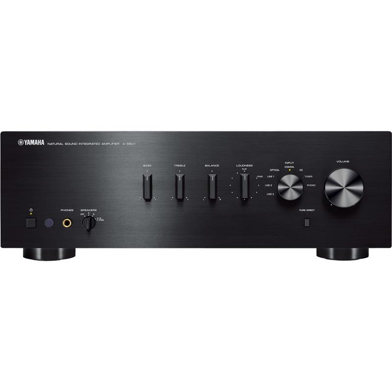 yamaha a s501 stereo amplifier with bonus headphones. Black Bedroom Furniture Sets. Home Design Ideas