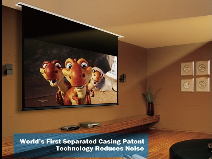 Ambertech WM-RM92 In Ceiling Projector Screen